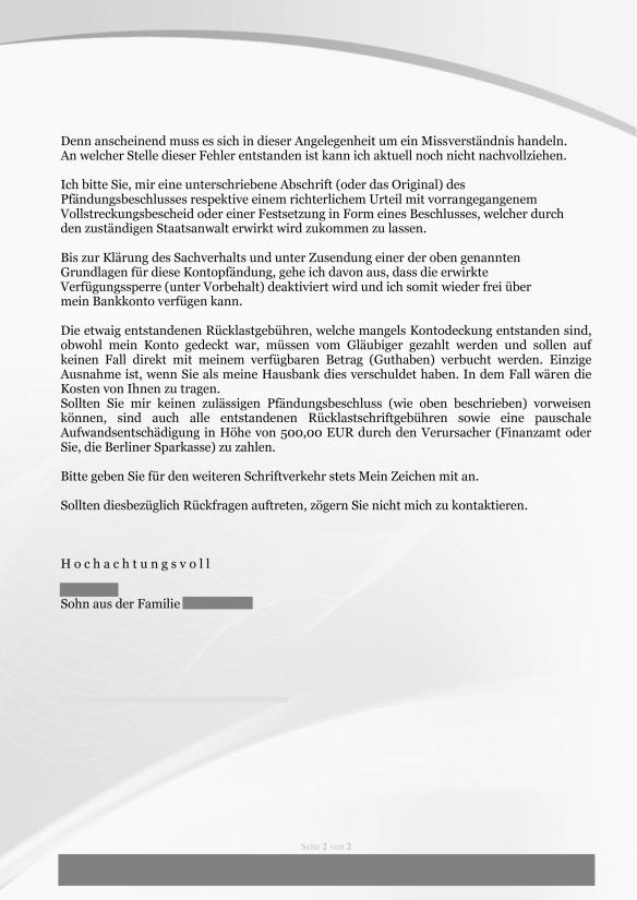 Kontopfändung Berliner-Sparkasse - Einschreiben-2