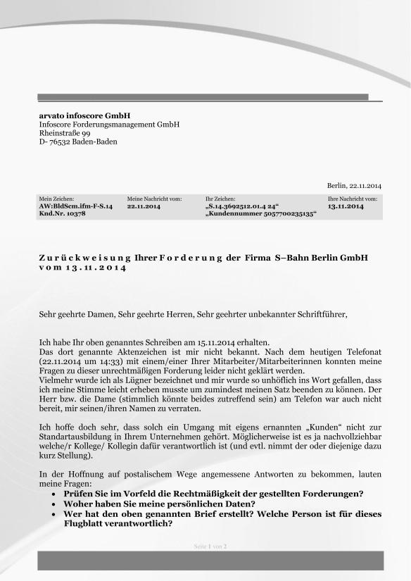 Schreiben auf Forderung von infoscore iA der S-Bahn Berlin GmbH-1