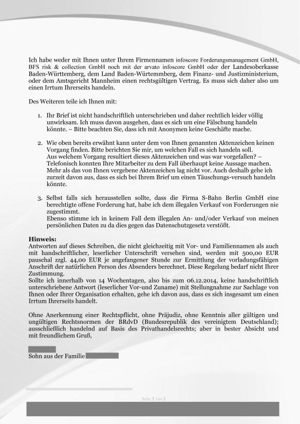 Schreiben auf Forderung von infoscore iA der S-Bahn Berlin GmbH-2