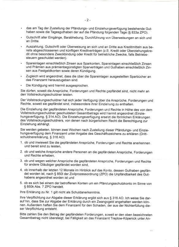 FA Pfändungseinziehungsverfügung Postbank vom 19.01.15 Seite _02