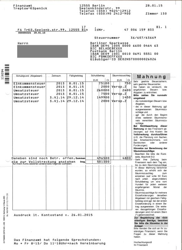 Briefverkehr Mit Der Finanzagentur Deutschland Gmbh Alias Finanzamt