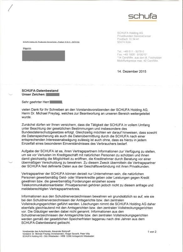 Schufa Antwort Datenbestand 14.12.2015 Seite_1