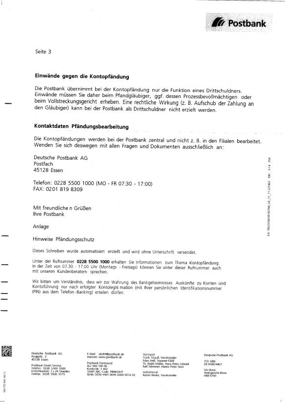 Postbank Kontopfändung-3