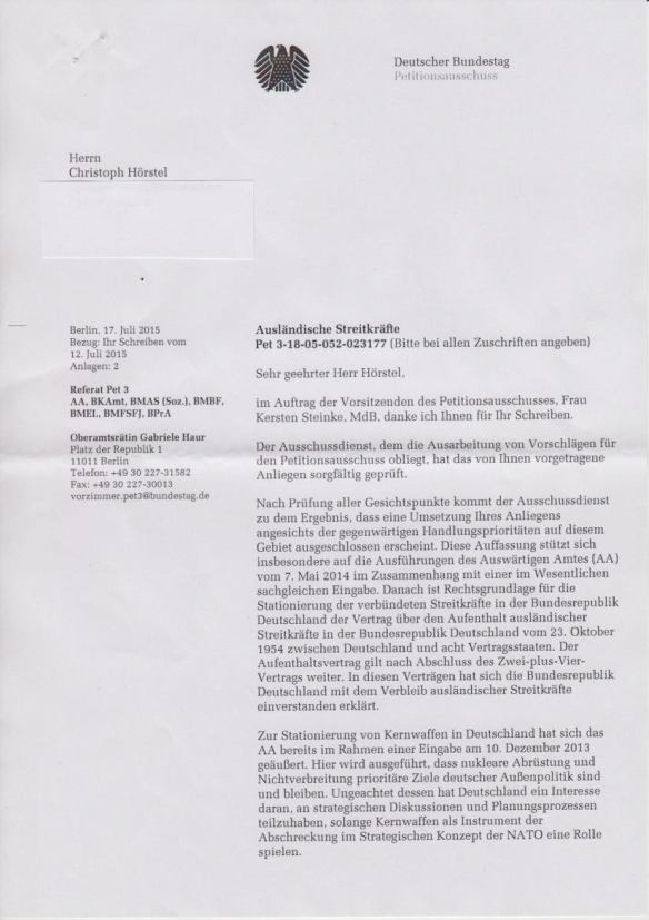 Bundestag lehnt Petition ab Sete_1
