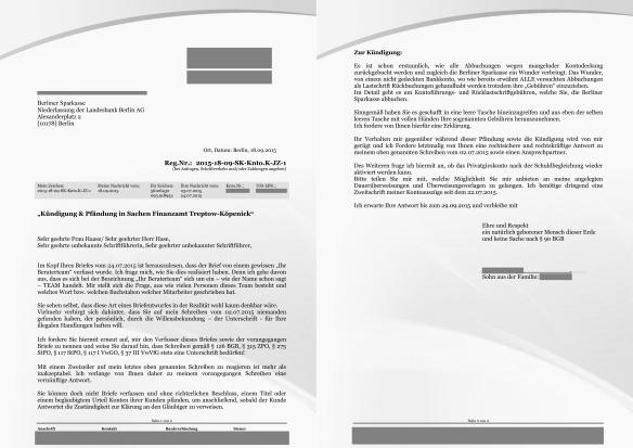 3. Akt Schreiben an die Sparkasse Seite 1&2