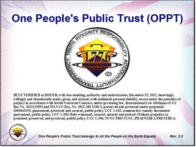 "OPPT - ""the One People´s Public Trust"""