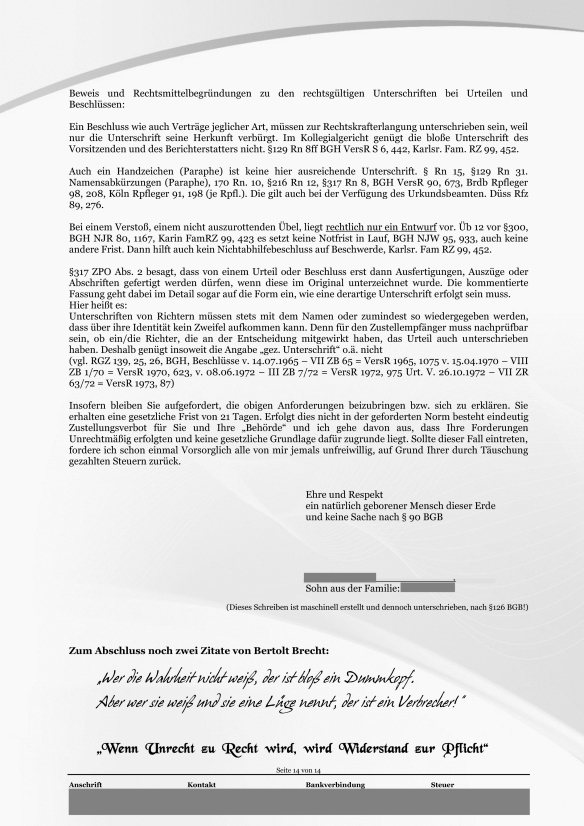 Schreiben ans Finanzamt Rundumschlag Seite 14