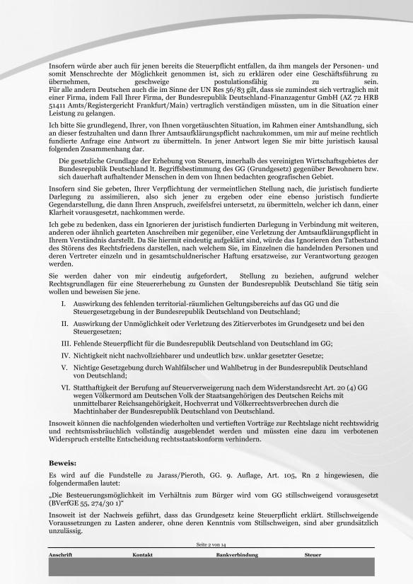 Schreiben ans Finanzamt Rundumschlag Seite 2