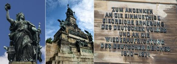 Abb.: Das Niederwalddenkmal am Rhein. Errichtet zur Reichseinigung 1871.