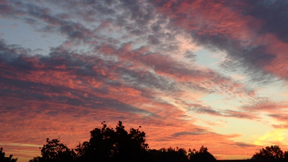 Amazing Sonnenaufgang mit Chemtrails in Berlin 30.08.2015_16
