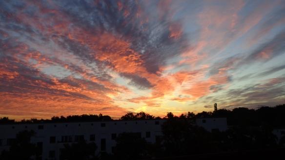 Amazing Sonnenaufgang mit Chemtrails in Berlin 30.08.2015_30