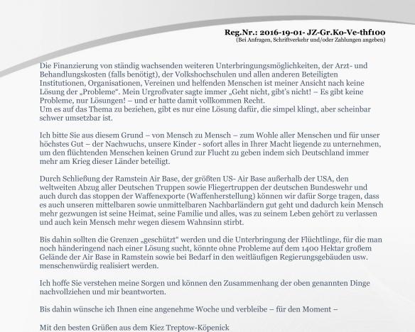 Seite 2 der Anlage Erinnerung vom 19.02.2016 zur Anfrage Volksentscheid zum Tempelhofer Feld