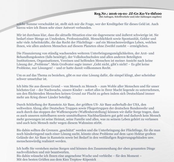 Anlage Seite 2 Erinnerung vom 19.02.2016 zur Anfrage Volksentscheid zum Tempelhofer Feld