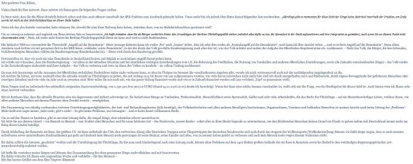 Meine Antwort Irene Köhne