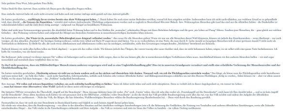 Meine Antwort Julia Holtz iA von Clara West_Teil 1