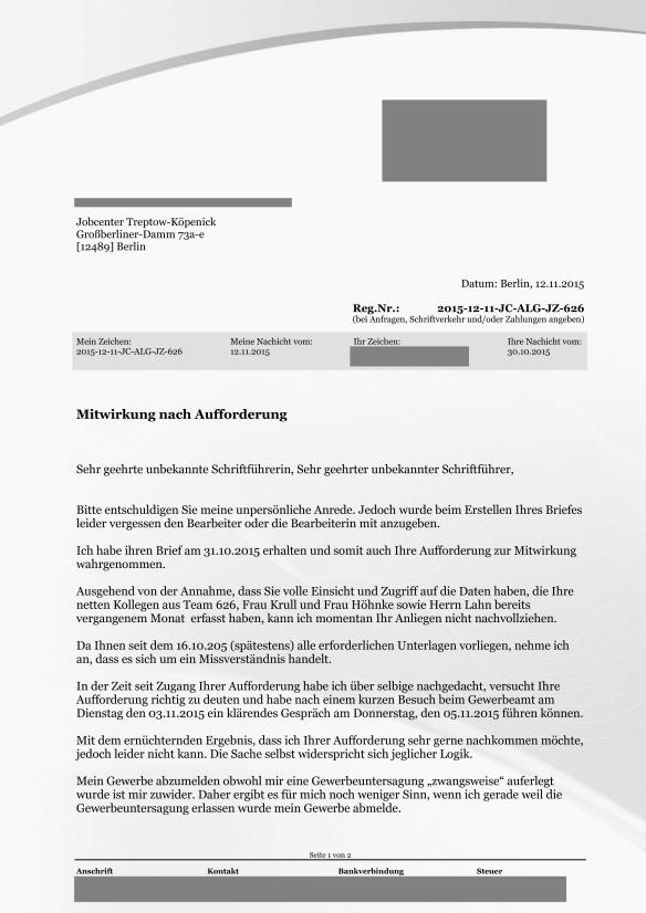 Reg.Nr. 2015-12-11-JC-ALG-JZ-626 Mitwirkung nach Aufforderung Gewerbeabmeldung Seite_1