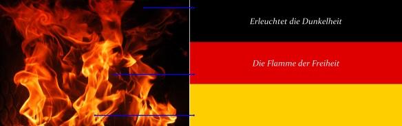 schwarz-rot-gold Flamme