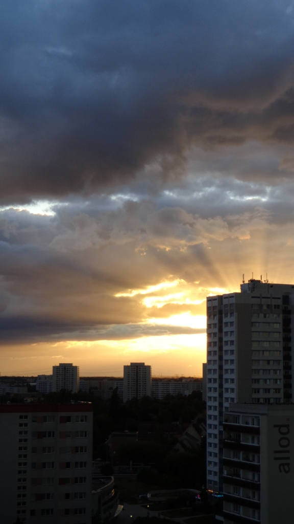Sonnenuntergang Berlin Marzahn 25.07.2015_10