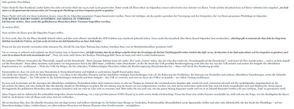 Erinnerung an Mail vom 24.01.2016 - Irene Köhne Teil 1