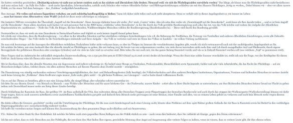 Teil 2 meiner Antwort vom 13.02.2016 an Daniel Buchholz
