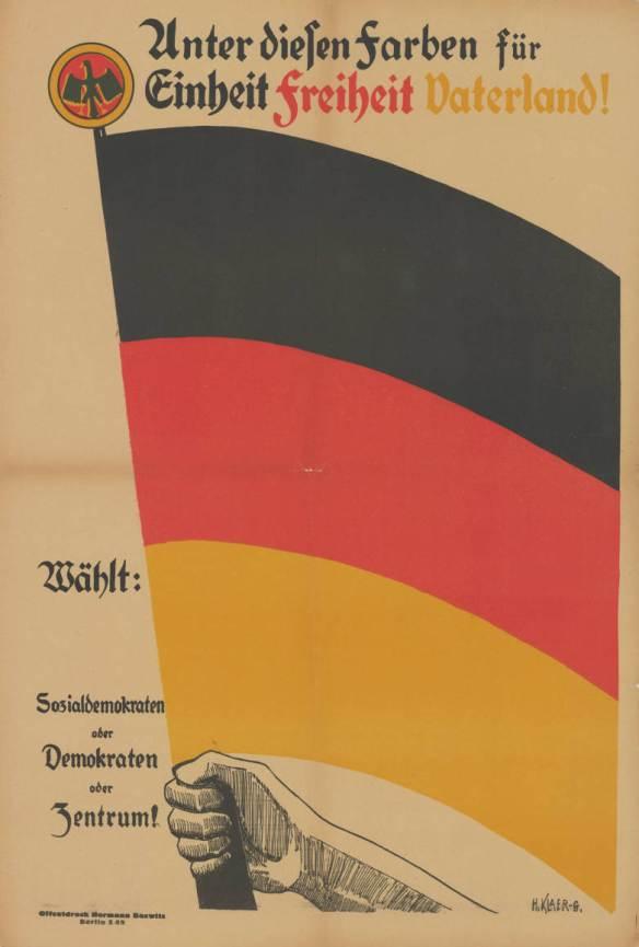 Wahlplakat der Weimarer Koalition