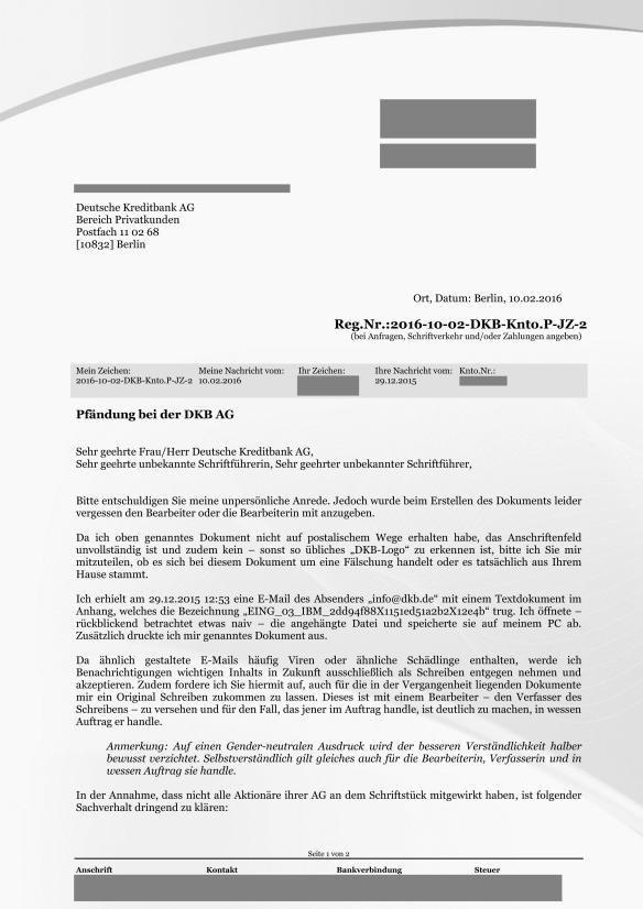 Reg.Nr.2016-10-02-DKB-Knto.P-JZ-2 Pfändung bei der DKB AG Seite_01