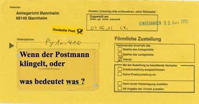 Wenn der Postmann klingelt
